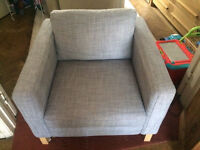 Ikea Karlstad Isunda Grey Armchair Good Condition