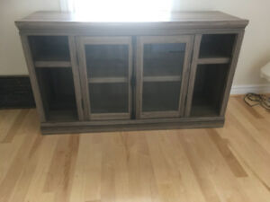 "Tv stand/display cabinet, can hold up to 70"" TV"