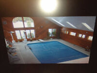 Executive home -Indoor pool on 121 acres. Field & forest