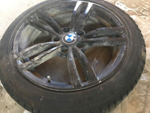 Almost brand winter tire with rim for bmw 3 or 4 series.