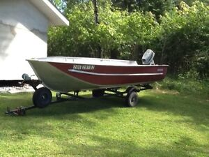 Edson aluminum boat WANTED -Blue Red or Silver