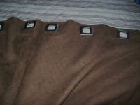 Large Chocolate Brown Room Darkening Drapes/Curtains Grommet