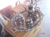 Silverplated Coffee & Tea Serving Set: