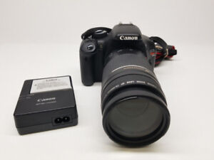 Camera Photo Canon T2i 18MP + Lentille 75-300mm + chargeur