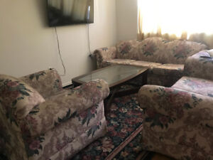 selling 6 seater sofa with centre table at very great price.