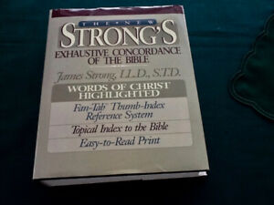 The New Strong's Exhaustive Concordance of the Bible Hard Cover