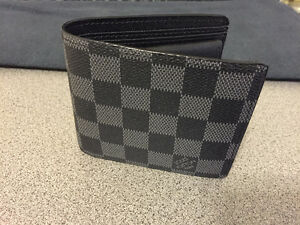 louis vuitton wallet with coins pocket (black) BRAND NEW