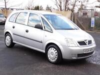Vauxhall Meriva 1.6i, 2004, Life, Just Serviced, 1 Years Mot