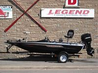 15' Spirit Bass Boat, Mercury 90 2 stroke & Trailer