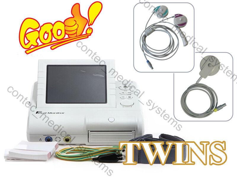 Details about CONTEC CMS800G 24h Fetal Monitor FHR TOCO Fetal Move Twins  Ultrasound Transducer