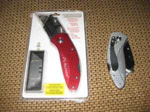 BLADES COUTEAUX UNIVERSELS PLIANTS FOLDING UTILITY KNIFE EXACTO