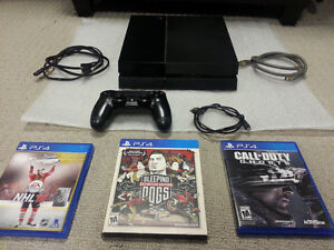 *** Adullt owned 100% working PS4 + 2 Controllers & Games ***