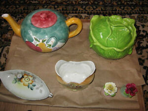 Collectibles, dishes, depression glass and misc.