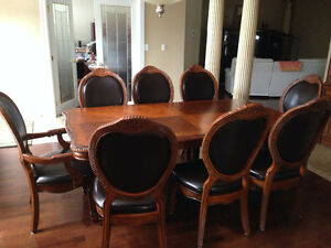 dinning table chairs, bamboo dining set
