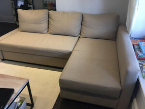 All set up! Ikea Sofa bed! Great condition!