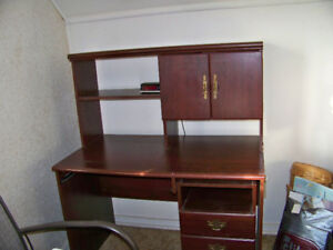 Desk with bookcase and drawers