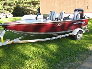 PRINCECRAFT FISHING  BOAT, MOTOR, TRAILER
