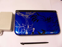 UP FOR SALE IS A POKEMON X Y BLUE NINTENDO 3DS XL EDITION WITH T