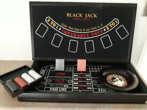 Casino House Games-Roulette-Black Jack-Craps 'Solid Wood '