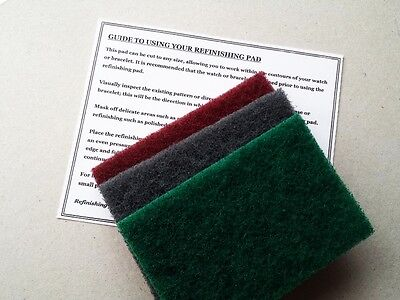 BEST VALUE 3 X VERY LARGE REFINISHING PADS WATCH SCRATCH REPAIR REMOVAL ROLEX