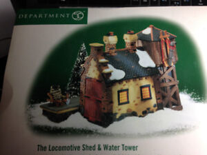 DEPARTMENT 56 - THE LOCOMOTIVE SHED & WATER TOWER - #58465
