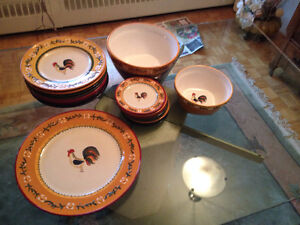 Set de Vaisselle Style Champetre ** Country Style Set of Dishes