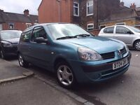 Renault Clio 1.2 petrol, manual good condition low mileage