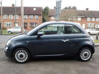 2008 Fiat 500 1.2 LOUNGE 3DR 08 REG Petrol Blue