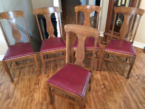 Antique Table and 5 chairs