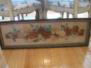 ORNATE FRAMED OLD ANTIQUE PARLOUR WALL HANGING