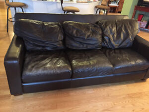 $150 Leather Sofa in Summerland