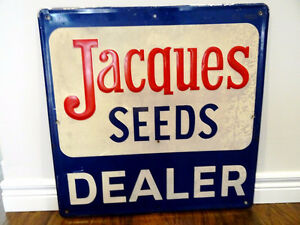 1982 JACQUES SEEDS SIGN Vintage STORE ADVERTISING DISPLAY