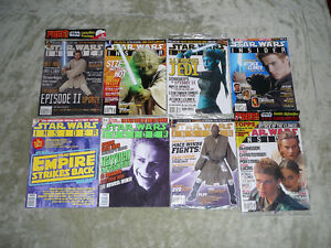 Star Wars Insiders- 8 Different Back Issues Brand New