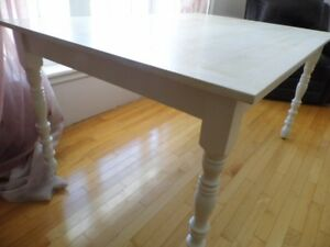 COTTAGE TABLE, White with Whitewash Top