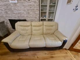 DFS electric recliner sofa