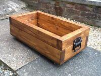 Wooden storage box (planter)
