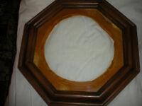Hexagon shaped vintage plate frame