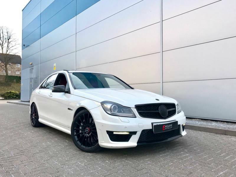 2011 61 mercedes benz c63 amg 6 3 amg edition 125 saloon white red leather in watford. Black Bedroom Furniture Sets. Home Design Ideas