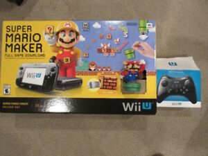 Wii U SuperMario Maker Deluxe set 32 GB with Wii remote