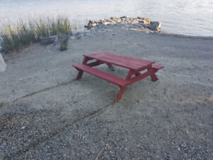 Two kids picknick tables for sale
