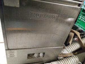 Hobart high temperature commercial dishwasher