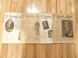 """8 Revues de """" Montréal qui chante """" de 1918, à 1921 """"."""