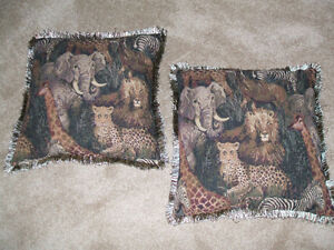 2 Jungle Animals-Throw Pillow London Ontario image 2
