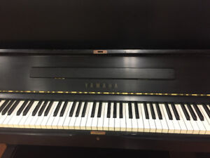 Yamaha U1 Upright Piano and bench - black finish