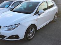 2010 NEW SHAPE SEAT IBIZA 1.6 TDI CR SPORT 5 DOOR, £30 TAX+ FULL SERVICE HISTORY