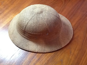 Vintage Straw Pith Hat