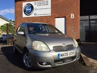 TOYOTA YARIS 1.3-2005-5 DOOR--SUPER LOW MILES--FULL SERVICE--1 YEAR MOT
