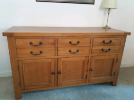 Sideboard with matching Unit- Solid wood very heavy