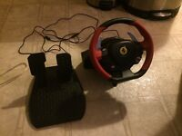 Xbox One or PC steering wheel with pedals
