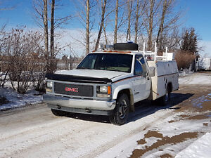 One ton service truck with picker price reduced